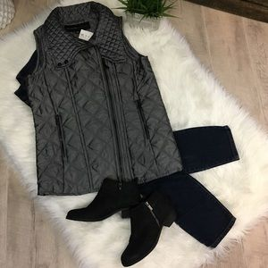 Marc New York Andrew Marc Quilted Vest - Grey